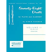 Seventy-Eight (78) Duets For Flute And Clarinet Vol2 56-78 Advanced