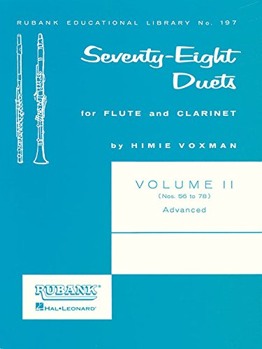 Seventy-Eight (78) Duets For Flute And Clarinet Vol2 56-78 Advanced - Duets Flute