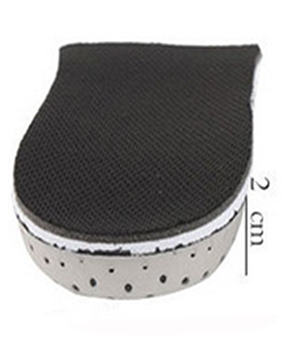 1 Pair Lift Insoles Heel Insert Shoe Pad Height Increase Cushion Elevator Taller (2CM) by TheFound (Image #1)