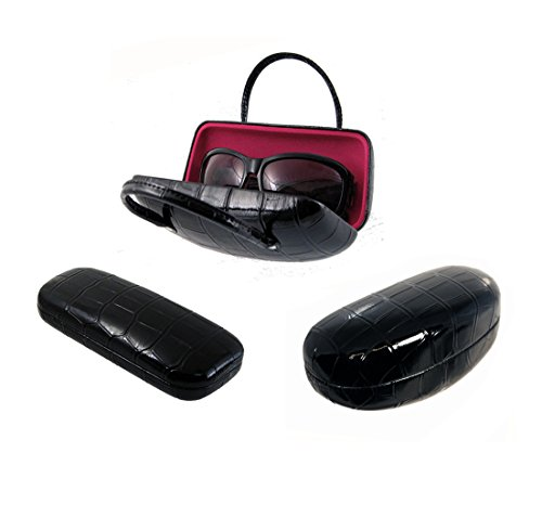 Hard Eyeglass Case | Protects Glasses With Medium Sized Frames | Men & Women |