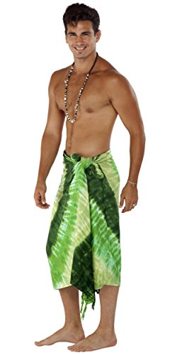 For da 1 Sarong Green Sarongs Men Effect Swirl dye Tie World twPAF