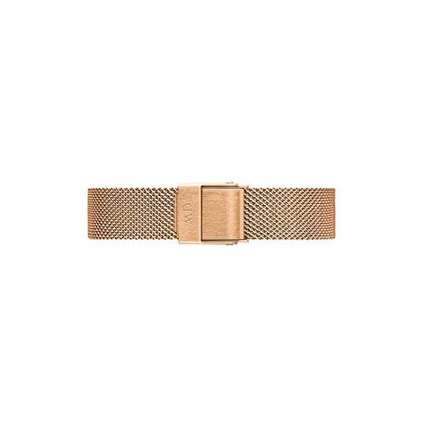 Daniel Wellington Petite Melrose, orologio da donna, 28 mm, in mesh, colore: oro rosa 5