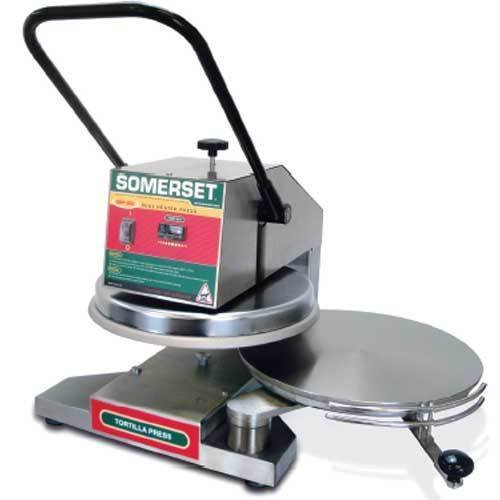 Somerset Sdp-800 Pizza or Bread or Tortilla Dough Press, Manual Operation, Dual by Somerset Products