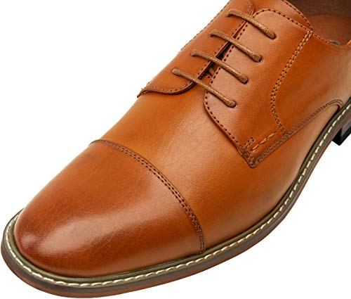 VOSTEY Men's Dress Shoes Oxford Shoes Formal Dress Shoes for Men Business Derby Shoes