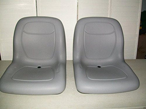 TWO (2) GRAY HIGH BACK SEATS JOHN DEERE GATOR,SNAPPER,TORO TWISTER,CLUB CAR #KN