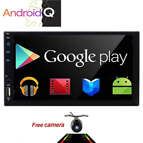 "Eincar 7"" Android 10 Head Unit Quad Core HD Capacitive Touch Screen Double 2 Din Car Radio Support Bluetooth 1080P Mirrorlink Auto GPS Navigation Stereo System PC Tablet Reverse Camera WiFi 4G USB"