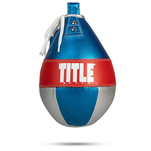 Title Boxing Boxeo Money Metallic Super Speed Bag, Blue/Red, X-Small