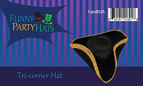 Revolutionary War Hat - Colonial Hat - Tricorn Hat - Revolutionary Costumes  Funny Party Hats 05d10a10f46