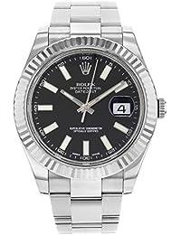 Datejust II 41 116334 Black Dial Men's Luxury Watch