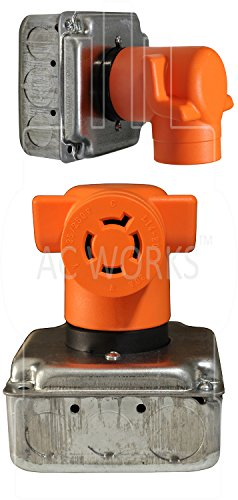 AC WORKS [AD1450L1420] Range/ RV/ Generator Outlet Adapter 4-Prong 14-50P Plug to 4-Prong 20Amp Locking L14-20R Adapter by AC WORKS (Image #6)