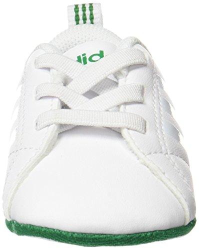 adidas Unisex Baby Vs Advantage Crib Sneaker Elfenbein (Ftwwht/ftwwht/green Aw4092)