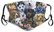 NOT Face Mask Adjustable Earloops Breathable Reusable Outdoor Mouth Cover Dust Mask for Adults Kids - Animals