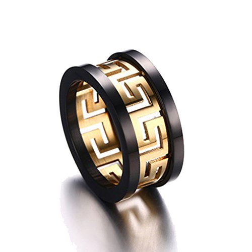 [Time Pawnshop Fashion Personalize Stainless Steel Gold Plated Men Ring Size 11 US] (Rosetta Fairy Costumes)