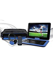 Ematic Personal DVD Player, Blue (EPD142BU)