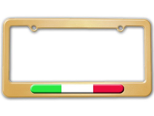 gold color license plate frame - 7