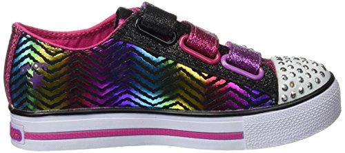 Skechers Mädchen Step Up Sneaker Schwarz (Bkhp)