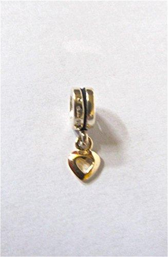 (Chamilia Gold Heart Dangle Bead RETIRED!)