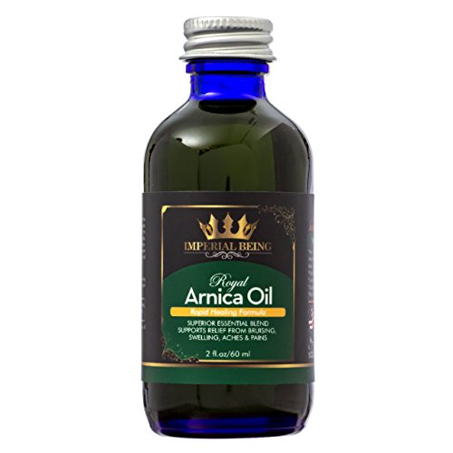 Imperial Oil (ROYAL ARNICA OIL - Rapid Healing Formula by IMPERIAL BEING - Super Premium Blend with Essential Oils, Minerals, and Wildcrafted Herbs for Bruises, Massage, Relief from Muscle Soreness & Aches (2 oz))