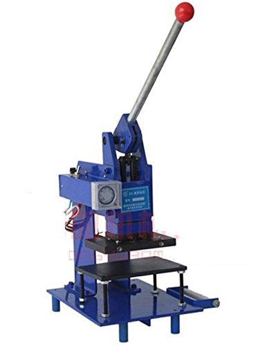 Letterpress Printers - 220V Manual Hot Foil Stamping Machine Tipper Stamping Machinery Bronzing Letterpress Printer Color:blue (Print area:10060mm)