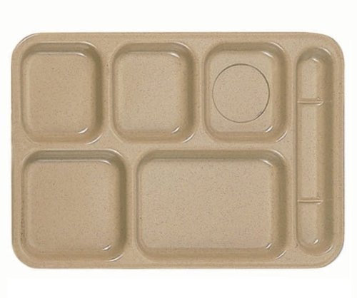 Divided 6 Compartment Meal Plate 14-1/2 x 10 *NSF* Chef Hershey 02514