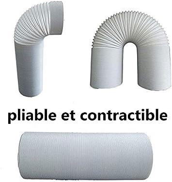 Conduit dextraction flexible en PVC de 150 mm climatisation 3 m Pour s/èche-linge extracteur dair hotte