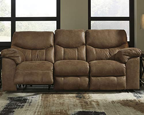 Signature Design by Ashley Boxberg Reclining Sofa, Bark