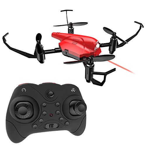 Mini Drone, DEERC HS177 RC Quadcopter Battle Drone for Kids and Beginners RTF 4 Channel 2.4GHz 6-Axis Gyro with Altitude Hold, Headless Mode, 3D Flip by DEERC
