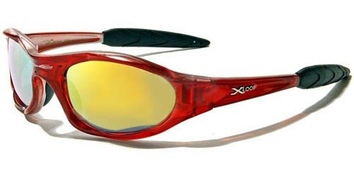 X Loop Mens / Womens / Unisex Athletic Sport Designer Fashion Sunglasses with UV400 Lens - Available in Black / Silver / Blue / Red / Brown - Includes Custom - Branded Sunglasses