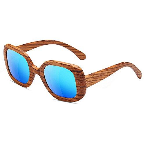 de Tonos de Madera de de Lente Madera SunglassesMAN Espejo Efecto Yxsd Dos Gafas Brillante Sol Grano UV400 de de de Madera Patrón FS0YUT0qz