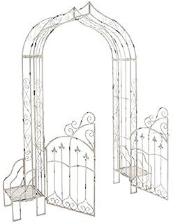 Deco 79 Metal Garden Gate, 91 Inch By 73 Inch,