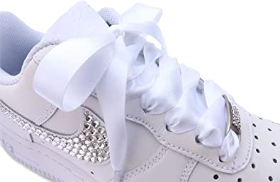 Nike Women's Stunning Air Force 1 Lows, Crystallised With Swarovski  Crystals White Size 8