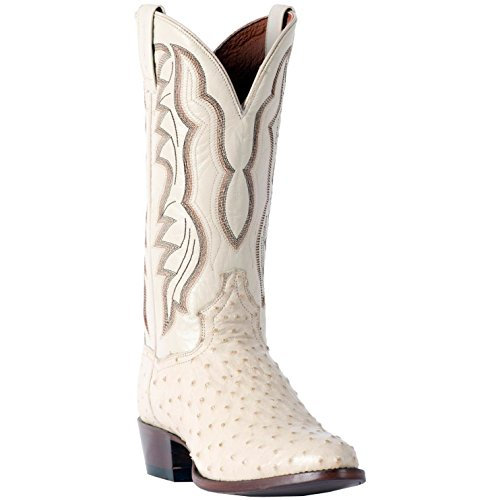 - Men's Dan Post Pershing Ostrich Boots Handcrafted White