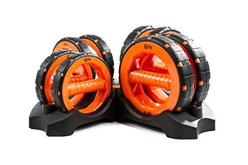 NuBellsPT Complete Dumbells Set, 1-Pound/2-Pound/3-Pound/4-Pound, Orange