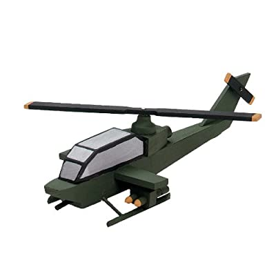 Darice 9178-95 Wooden Attack Helicopter Model Kit: Arts, Crafts & Sewing