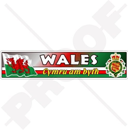 (WALES Welsh Flag-Coat of Arms Cymru Am Byth Emblem UK 180mm (7.1