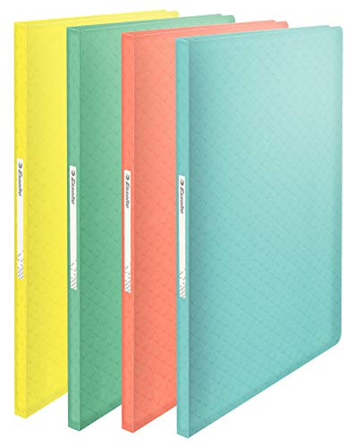 Esselte Colour'Ice 626229 Polypropylene Document Wallets with 40 Pockets Pack of 20 Assorted Colours
