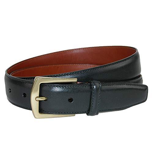 CrookhornDavis Dress Belt for Men, Calfskin Leather Accessories - (Ciga Smooth), 30, - Leather Crocodile Textured Belt