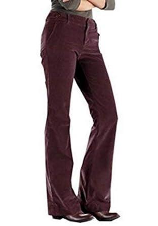 dec59a2e64709 Pantalon pantalon en velours côtelé Bootcut Femmes de Eddie Bauer -  Bourgogne, Femme, 36