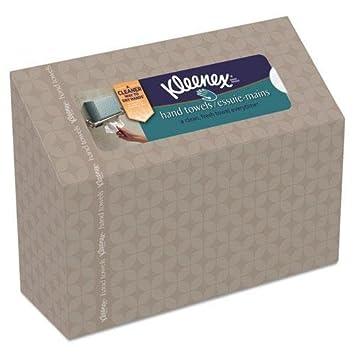 Kimberly-Clark 38587 KLEENEX Doblado toallas de mano, Blanco, Dispensador Box, 60-Caja, 12 Cajas de cart-n-: Amazon.es: Hogar