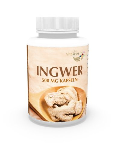 Vita World Ingwer 500mg 120 Vegi Kapseln Apotheken Herstellung Ginger