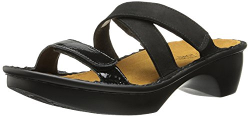 (Naot Women's Quito Wedge Sandal, Black, 42 EU/11 M)