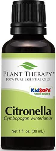 Plant Therapy Citronella Essential Oil. 100% Pure, Undiluted, Therapeutic Grade. 30 ml (1 oz).