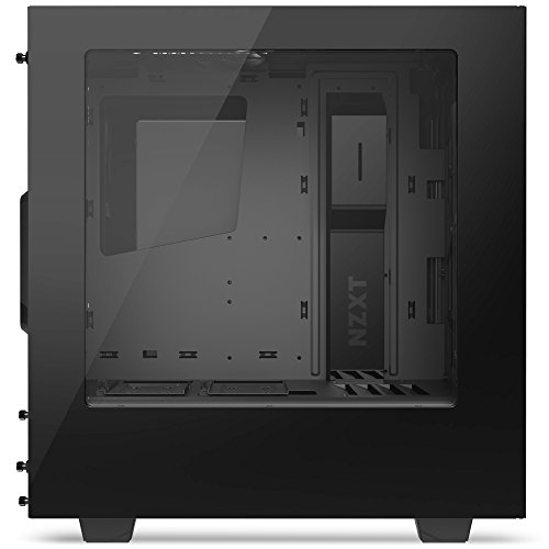 NZXT S340 Mid Tower Computer Case, Glossy Black (CA-S340W-B1)