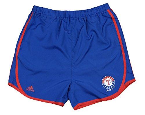(adidas Texas Rangers MLB Big Girls Lightweight Charger Shorts, Blue (Small (7-8)))