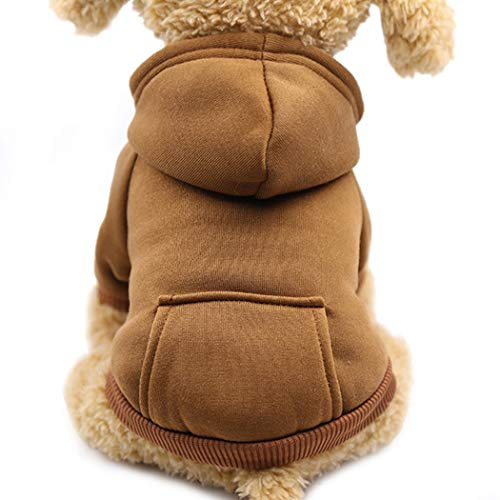 Idepet Dog Clothes Pet Dog Hoodies for Small Dogs Vest Chihuahua Clothes Warm Coat Jacket Autumn Puppy Outfits Cat…