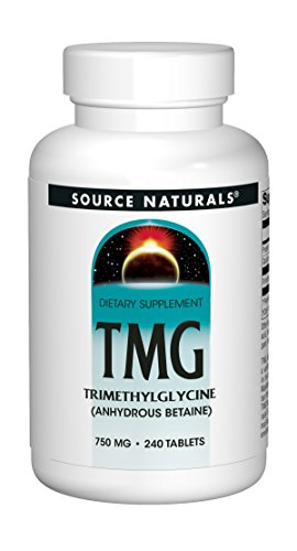Source Naturals TMG 750mg Trimethylglycine (Anhydrous Betaine) - 240 Tablets
