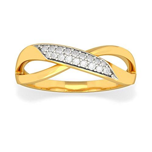 Or jaune 18K, 0,13carat Diamant Blanc (IJ | SI) en diamant