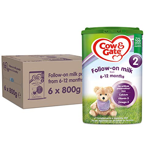Cow & Gate 2 Follow-On Milk From 6-12 Months, Pack of 6