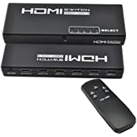 iKKEGOL 5 Port 1 x 5 HDMI Switch Switcher Selector Splitter Hub for HDTV PS3 w/IR Remote