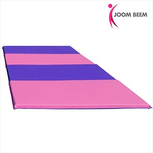 Joom Beem Gymnastics Mat 8x4ft Tumbling Mat Pink & Purple